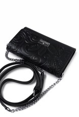 Happy Wahine Crossbody Amanda Tapa Tiare Embossed Black