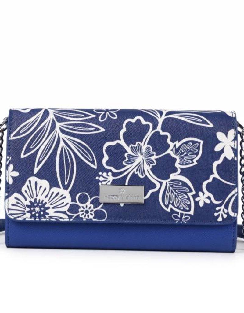 Crossbody Amanda Hibiscus Blossom Blue