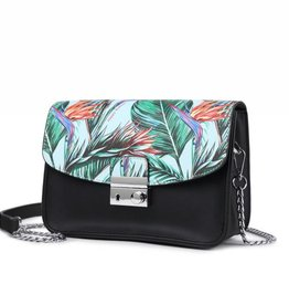 Happy Wahine Crossbody Janice Flap Bird of Paradise Blue