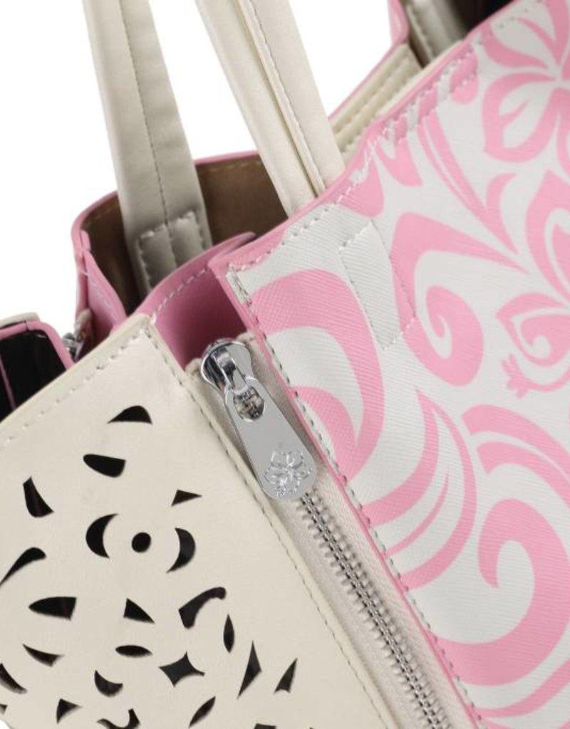 Happy Wahine Handbag Amy Hibiscus Light Pink Small