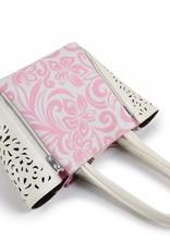 Handbag Amy Hibiscus Light Pink Small