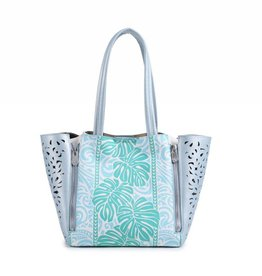 Happy Wahine Handbag Amy Monstera Green Small