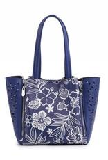 Happy Wahine Handbag Amy Hibiscus Blossom Blue Small