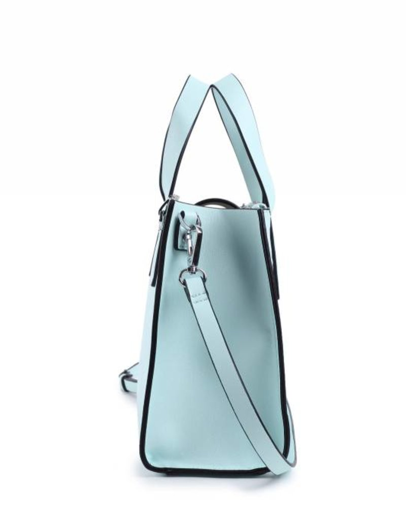 Handbag Katelyn Hibiscus Embossed Aqua