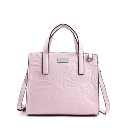 Handbag Katelyn Hibiscus Embossed Pink