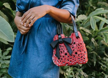 Flower Cutout Handbags
