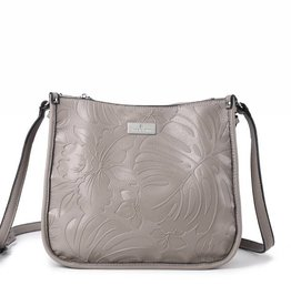 Crossbody Emma Monstera Orchid Embossed Sand