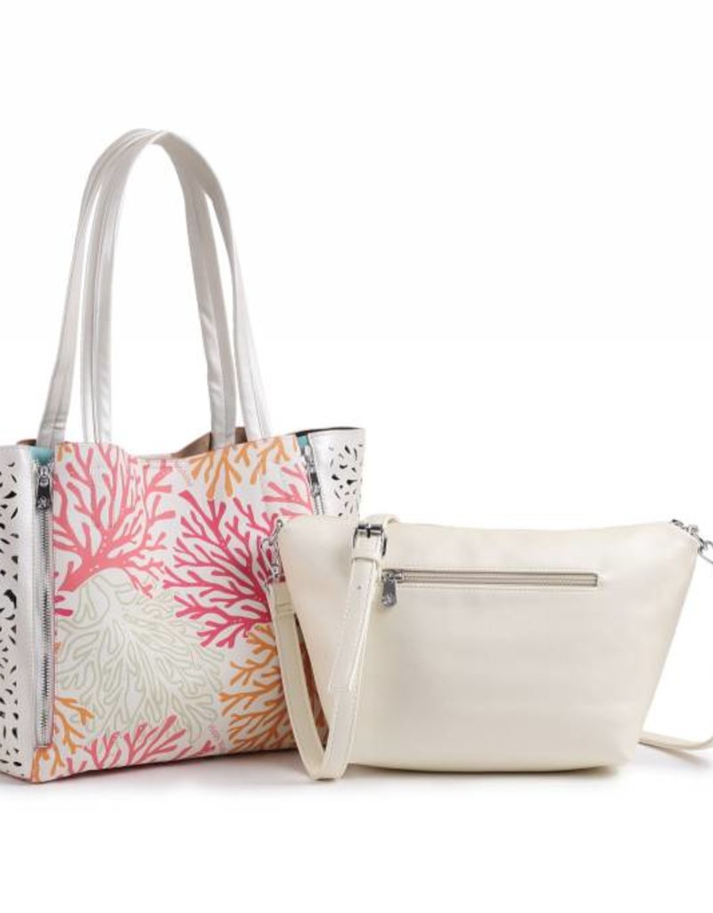 Handbag Amy Coral Beige Large
