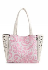 Handbag Amy Hibiscus Light Pink Large