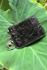 Happy Wahine Card Case May Tapa Tiare Black