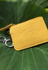 Happy Wahine Card Case May Monstera Orchid Yellow