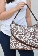 Hobo Bag Sara Hibiscus Brown