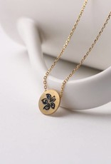 Happy Wahine Necklace Aloha Hibiscus Gold