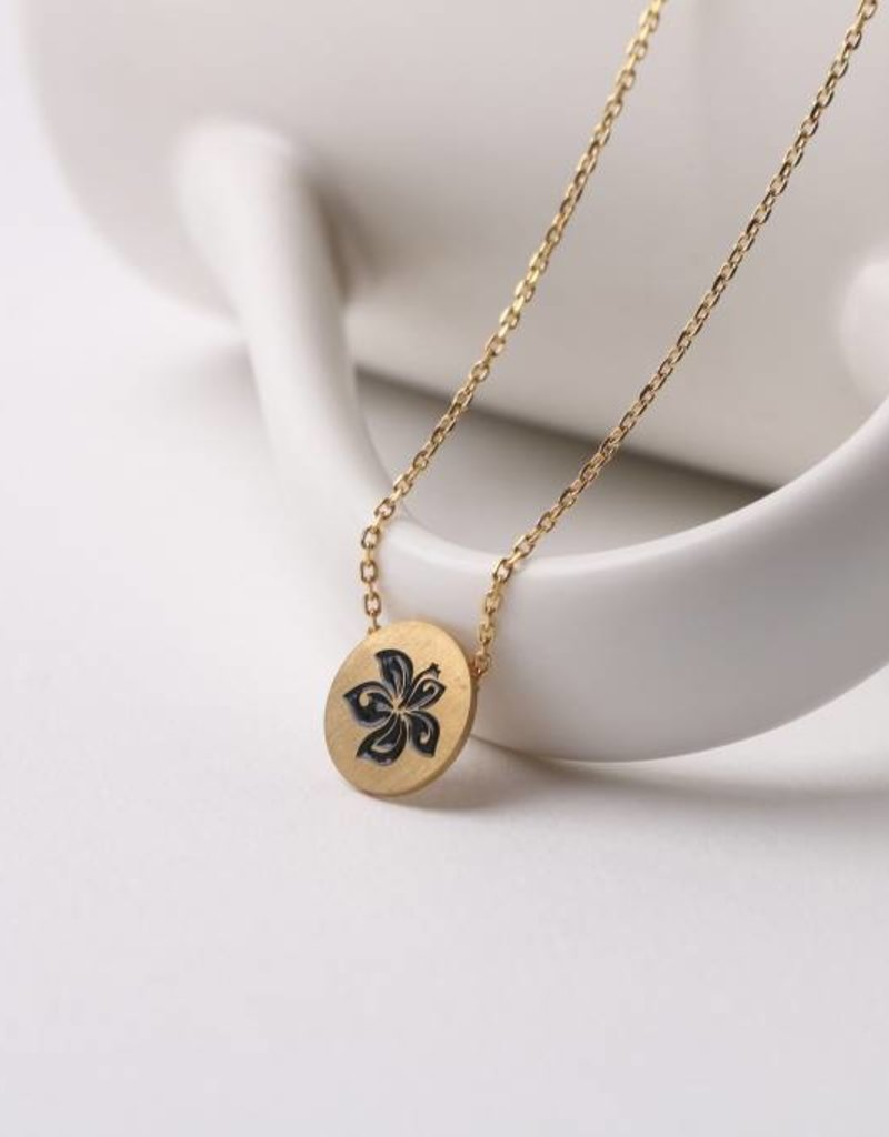 Necklace Aloha Hibiscus Gold
