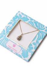 Happy Wahine Necklace Aloha Pineapple Gold