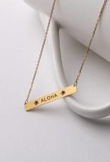 Happy Wahine Necklace Aloha Bar Gold
