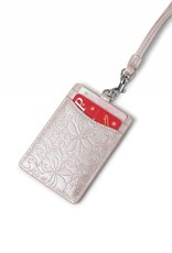 Happy Wahine Lanyard June Tapa Tiare Embossed Pink Metallic