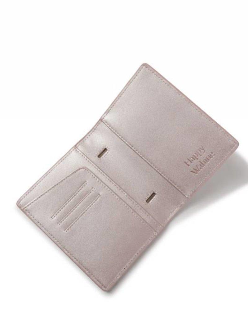 Passport Cover Jenna Tapa Tiare Embossed Pink Metallic