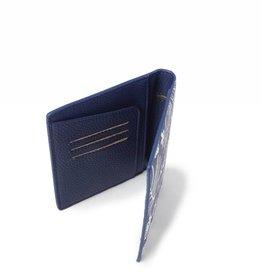 Happy Wahine Passport Cover Jenna Hibiscus Blossom Blue