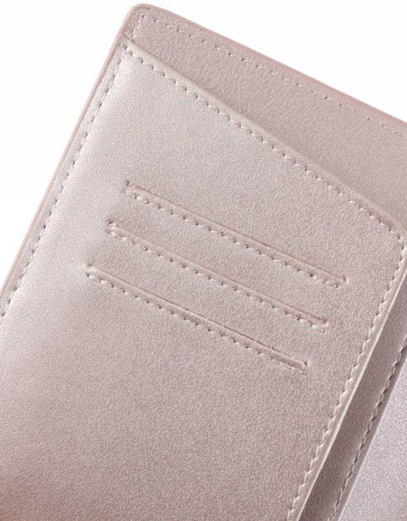 Happy Wahine Passport Cover Jenna Tapa Tiare Embossed Pink Metallic