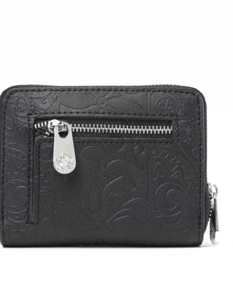 Wallet Meily Tapa Tiare Embossed Black
