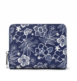 Happy Wahine Wallet Meily Hibiscus Blossom Blue