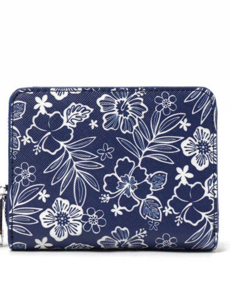 Wallet Meily Hibiscus Blossom Blue