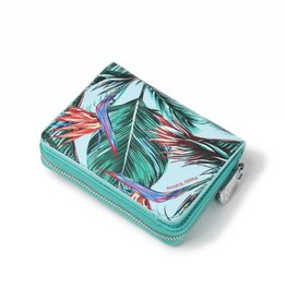 Happy Wahine Wallet Meily Bird of Paradise Blue