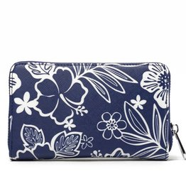 Happy Wahine Wallet Chloe Hibiscus Blossom Blue