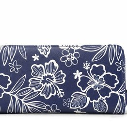 Happy Wahine Wallet Kaylee Hibiscus Blossom Blue