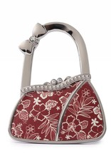 Purse Hook Purse Hibiscus Blossom Red