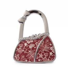 Happy Wahine Purse Hook Purse Hibiscus Blossom Red