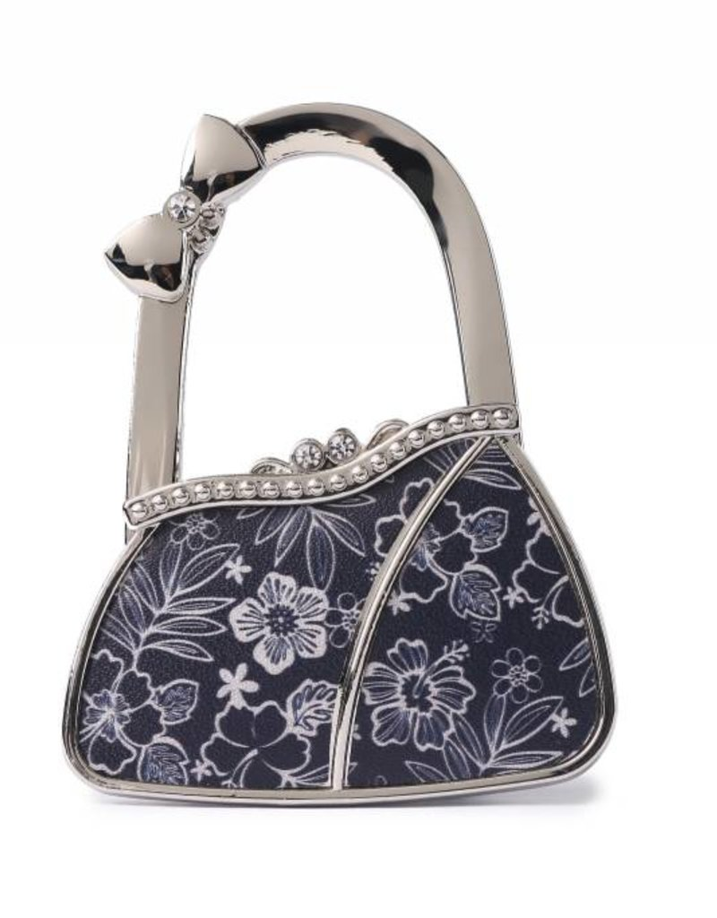 Purse Hook Purse Hibiscus Blossom Blue