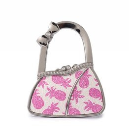 Purse Hook Purse Tapa Pineapple Pink