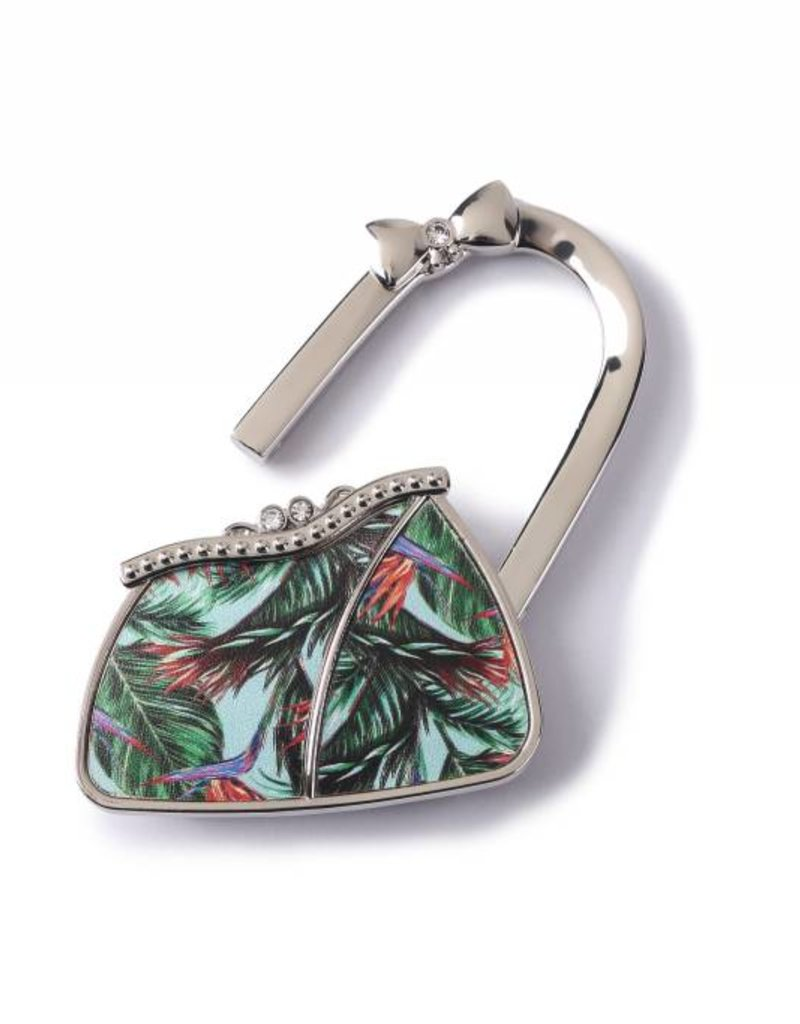 Purse Hook Purse Bird of Paradise Blue