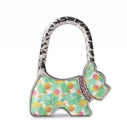 Happy Wahine Purse Hook Dog Spring Pineapple Beige