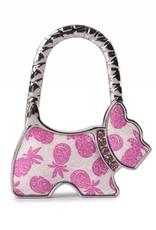 Purse Hook Dog Tapa Pineapple Pink