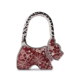 Happy Wahine Purse Hook Dog Hibiscus Blossom Red