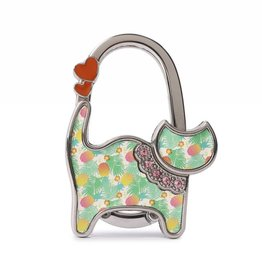 Purse Hook Cat Spring Pineapple Beige