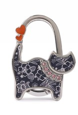 Happy Wahine Purse Hook Cat Hibiscus Blossom Blue