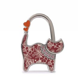 Everyday Hawaii Purse Hook Cat Hibiscus Blossom Red