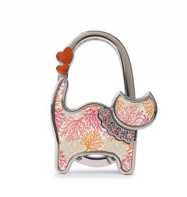 Purse Hook Cat Coral Beige