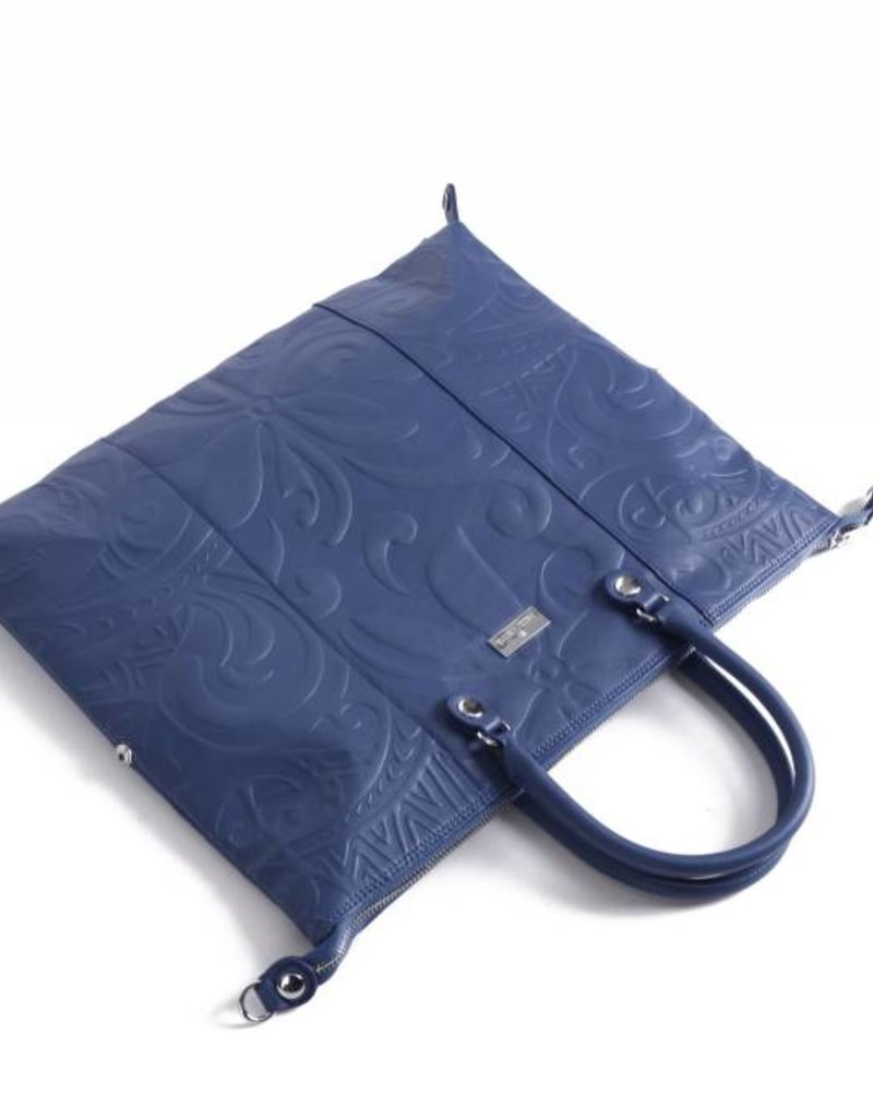 Tote Gabriella Tapa Tiare Embossed Blue