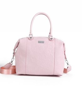 Happy Wahine Tote Gabriella Hibiscus Blossom Embossed Pink