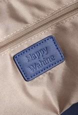 Happy Wahine Tote Gabriella Tapa Tiare Embossed Blue