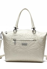Tote Hannah Monstera Embossed Ivory