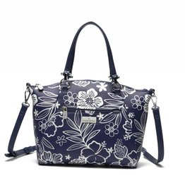 Happy Wahine Tote Hannah Hibiscus Blossom Blue