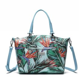 Happy Wahine Tote Hannah Bird of Paradise Blue