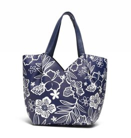 Happy Wahine Handbag Kuuipo Hibiscus Blossom Blue