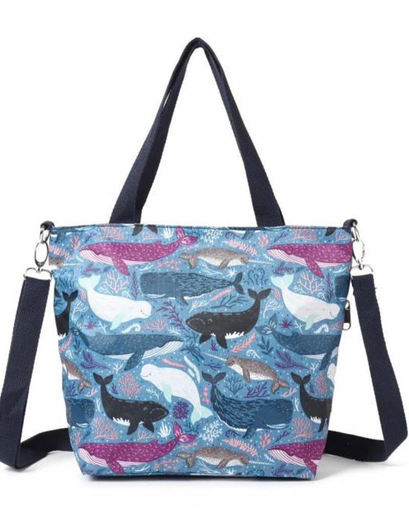 Nylon Amber Whales Blue